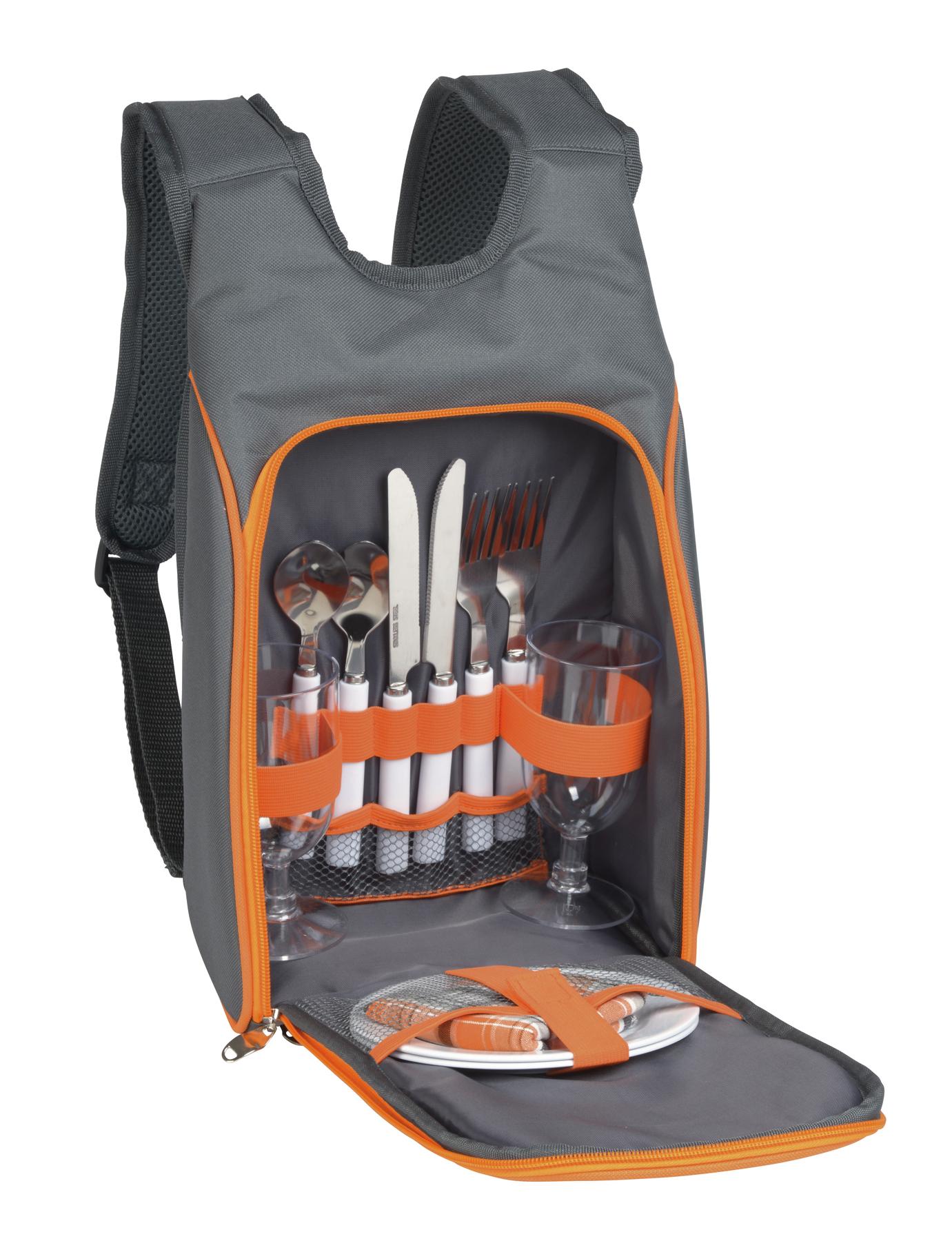 Plecak piknikowy SMART TRIP, pomarańczowy, szary