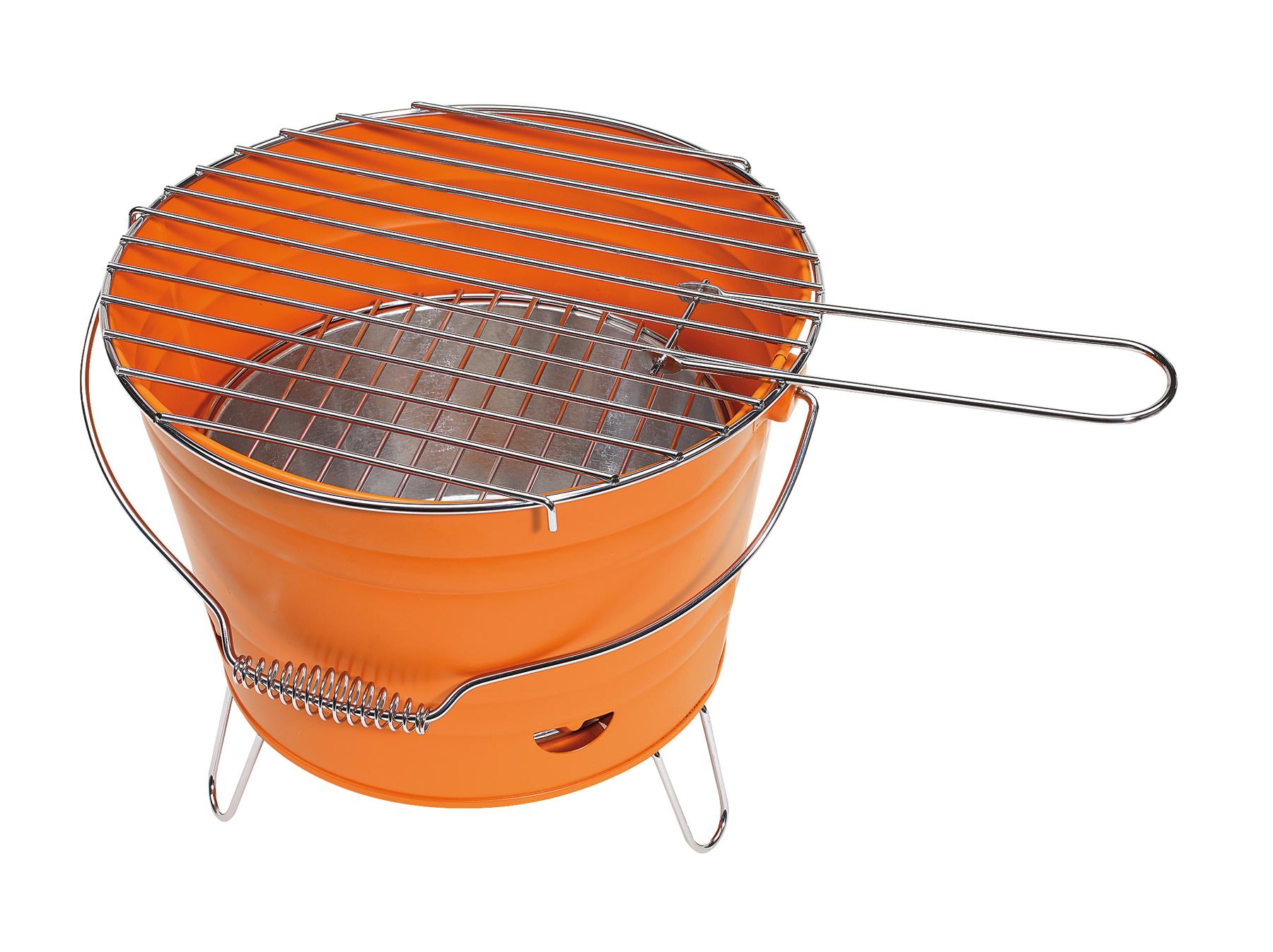 Grill BUCKET, pomarańczowy