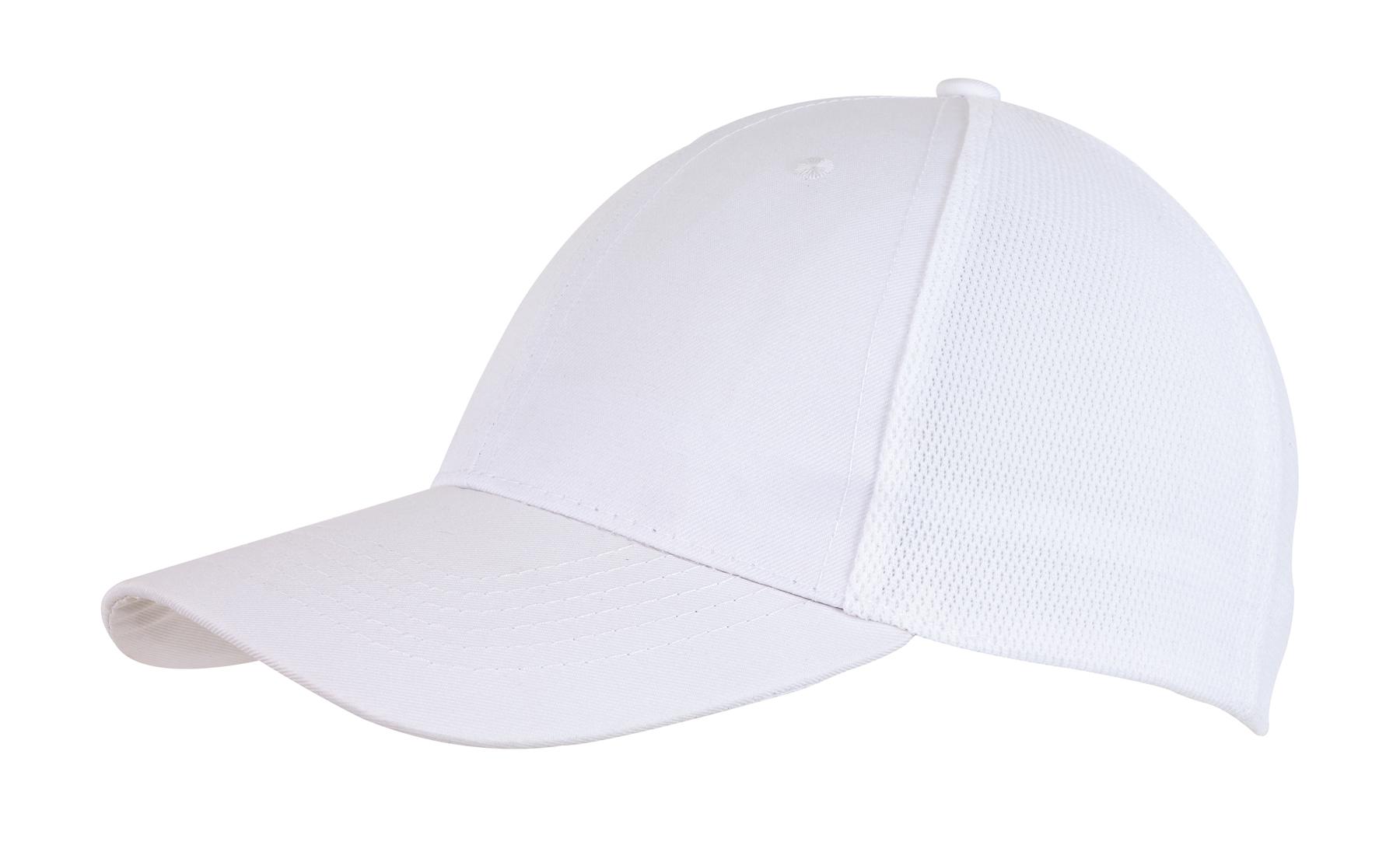6 segmentowa czapka PITCHER, biały