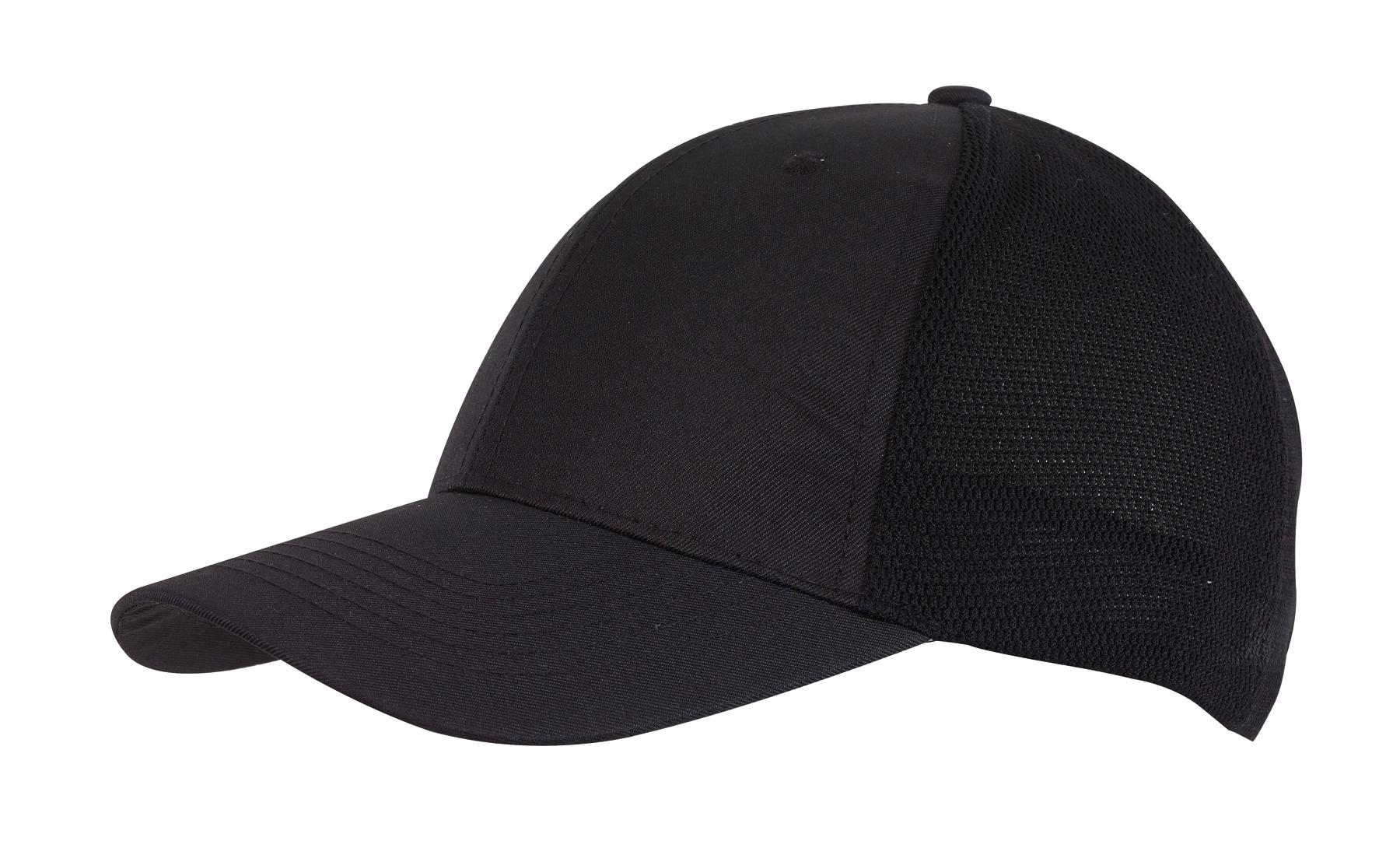 6 segmentowa czapka PITCHER, czarny