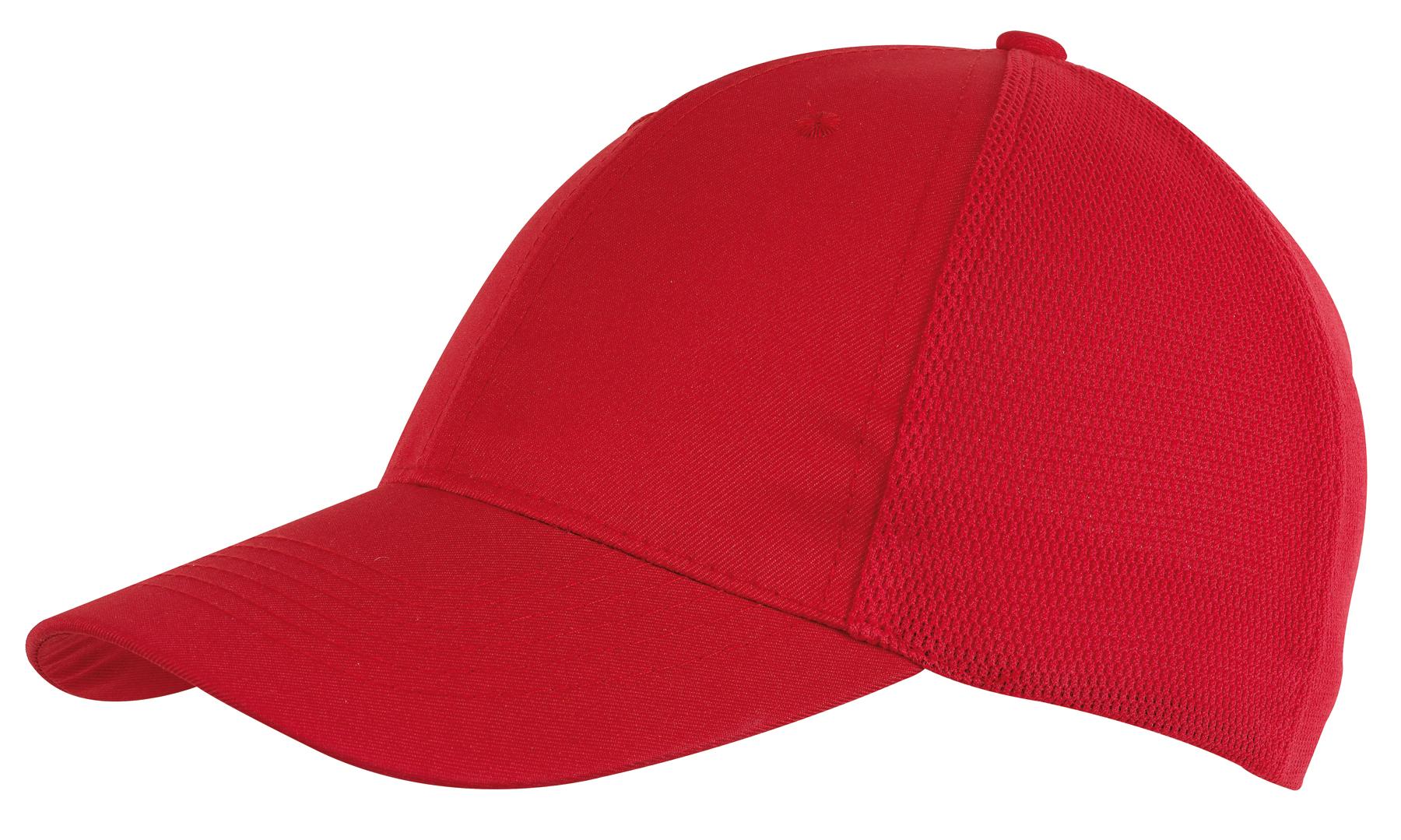6 segmentowa czapka PITCHER, czerwony