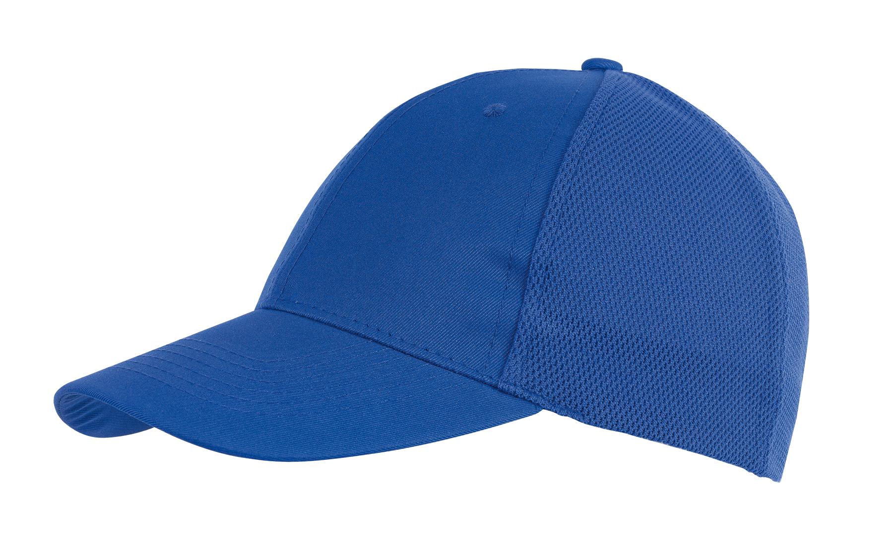 6 segmentowa czapka PITCHER, niebieski