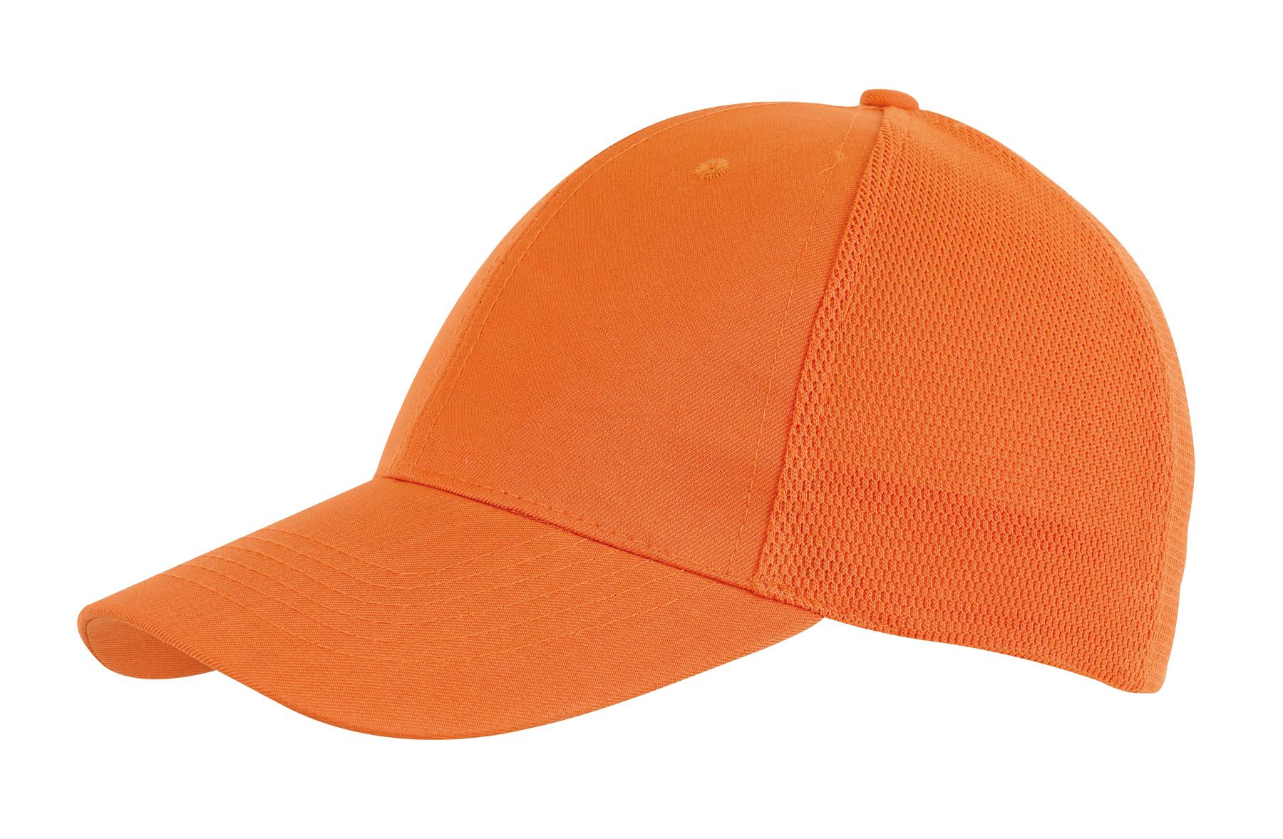 6 segmentowa czapka PITCHER, pomarańczowy