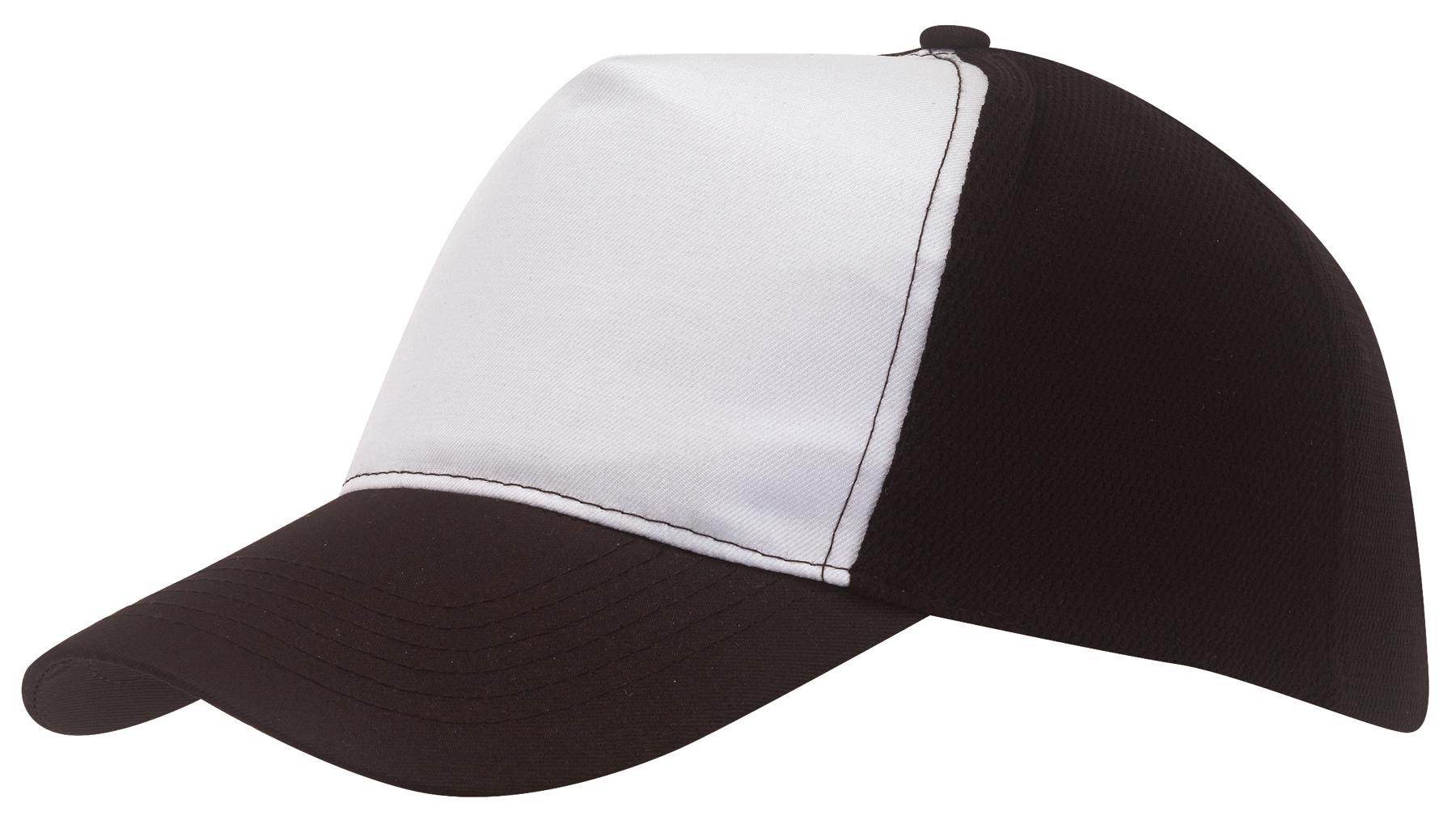 Czapka baseball BREEZY, biały, czarny