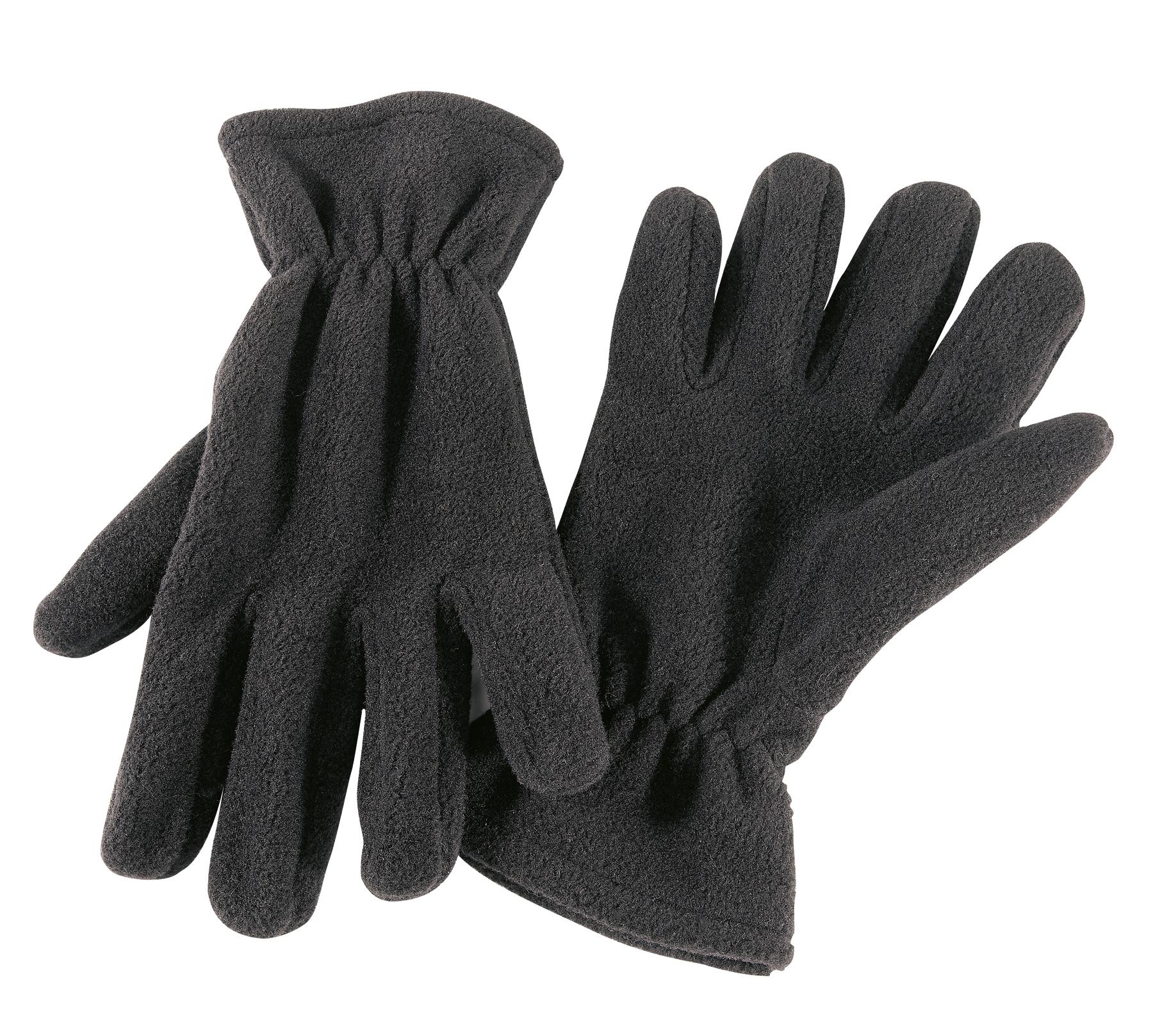 Rękawiczki z włókna polarowego ANTARTIC, czarny