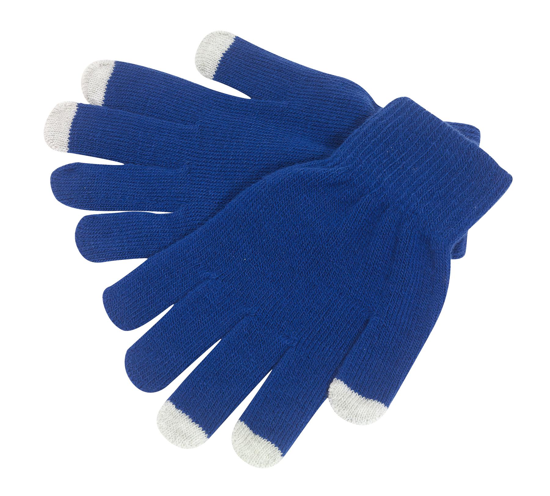 Rękawiczki dotykowe, niebieski
