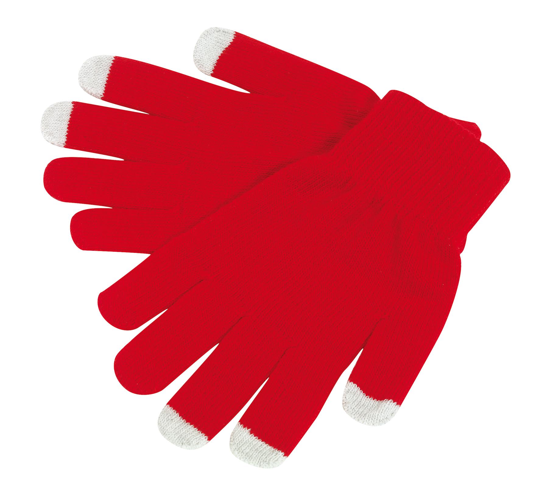 Rękawiczki dotykowe OPERATE, czerwony
