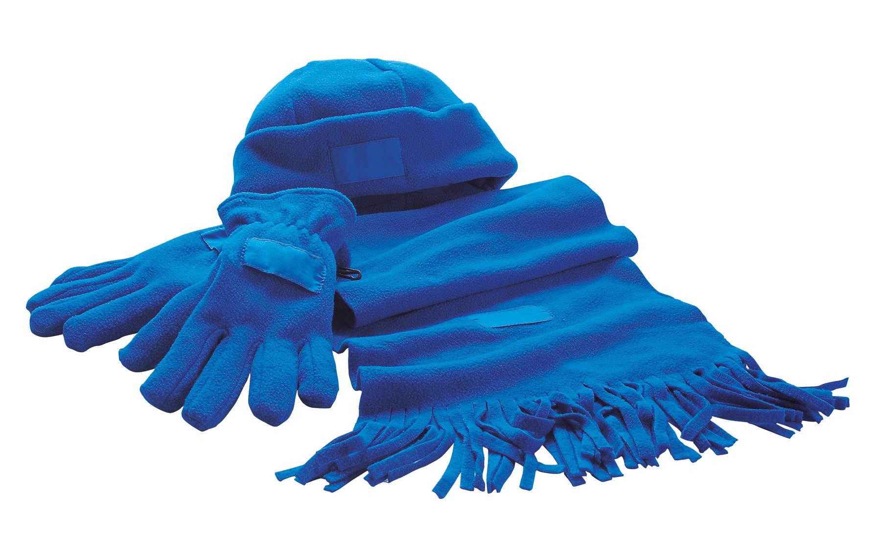 Zestaw z polaru TRIPLE, niebieski