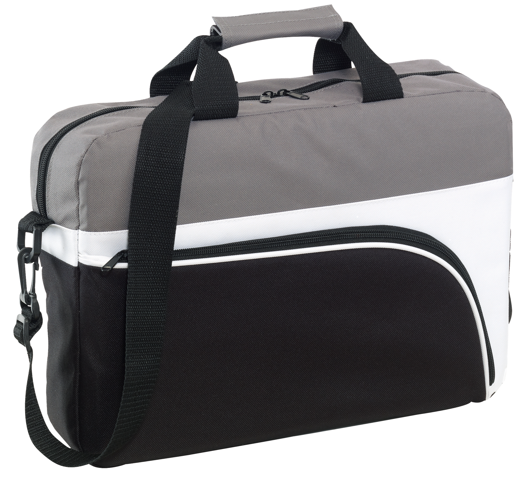 Torba na laptopa NARVIK, biały, czarny, szary
