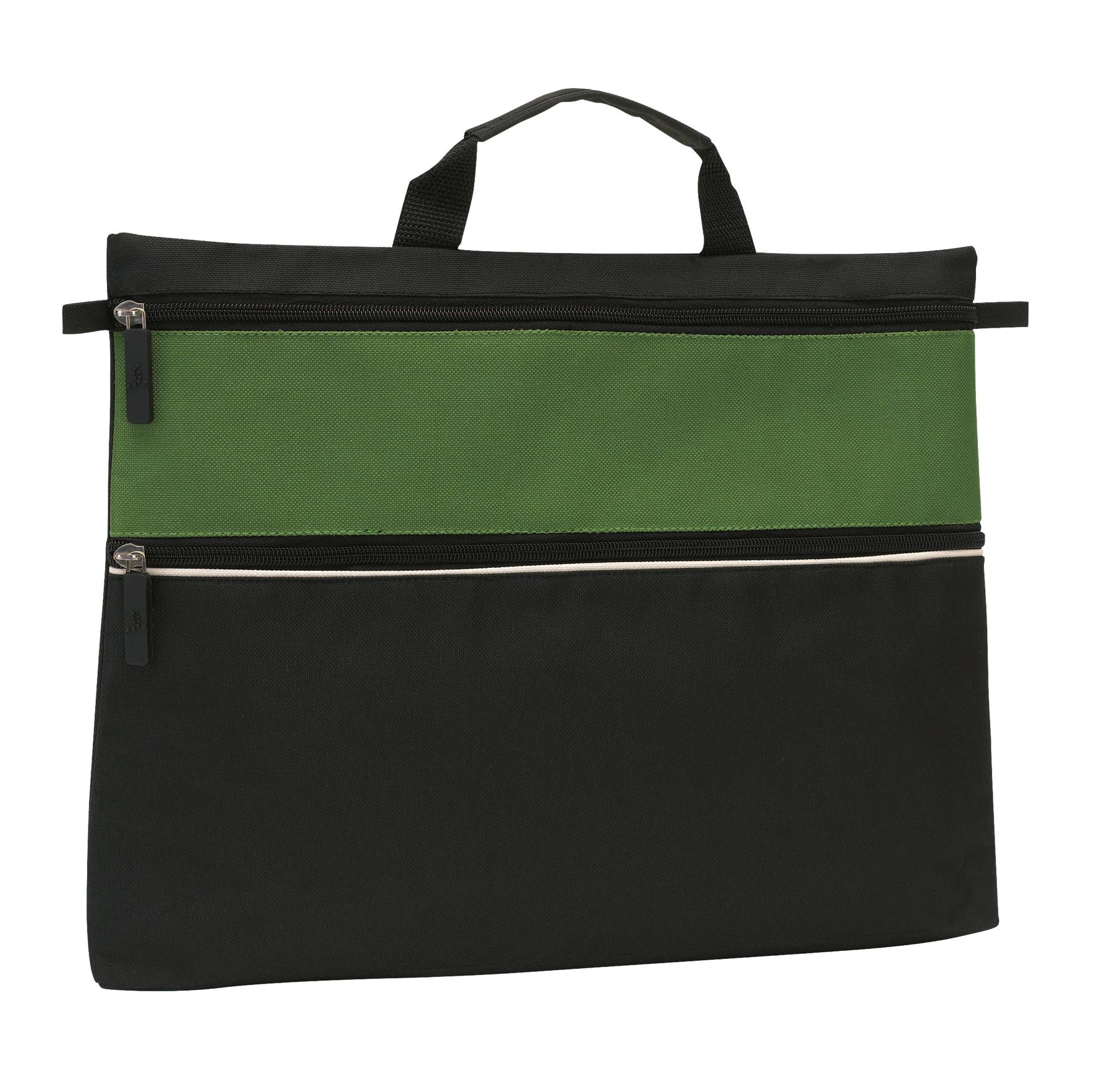 Torba na dokumenty FILE, czarny, zielony