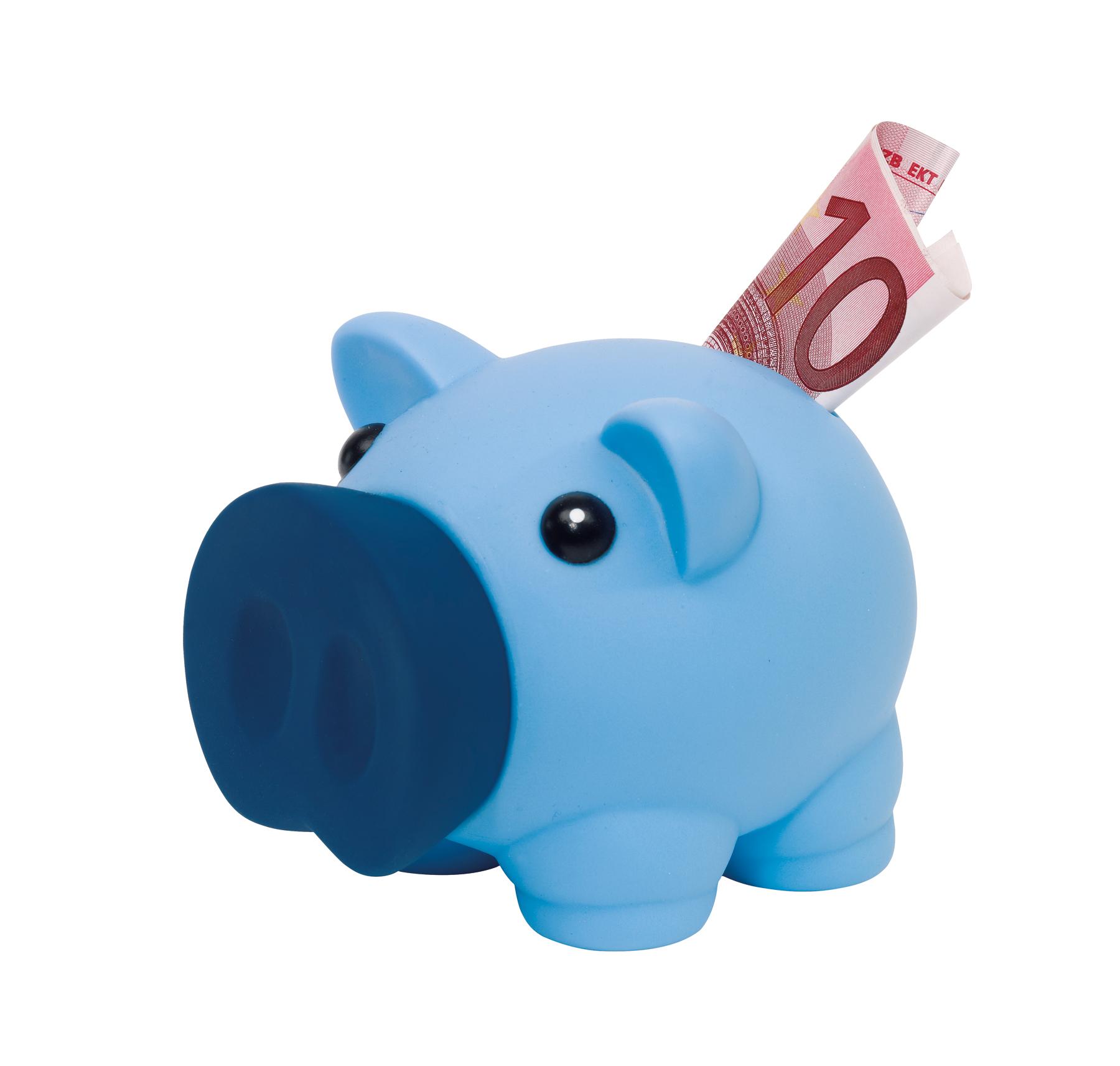 Skarbonka w kształcie świnki MONEY COLLECTOR, niebieski