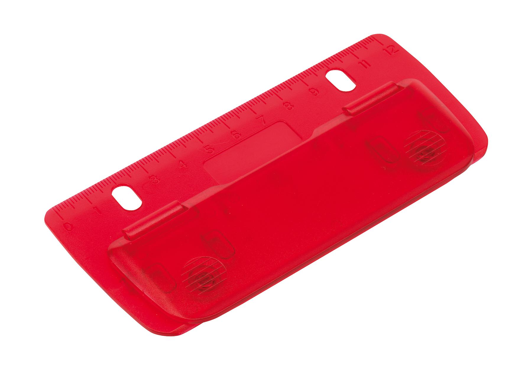 Mini dziurkacz PAGE, czerwony