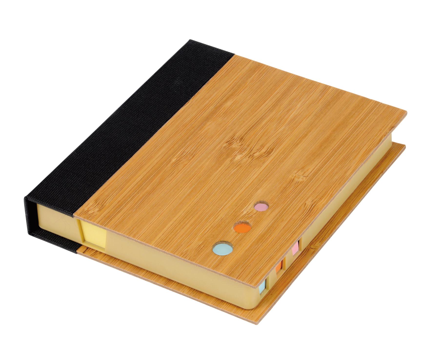 Pudełko na notatki BAMBOO NOTE, brązowy