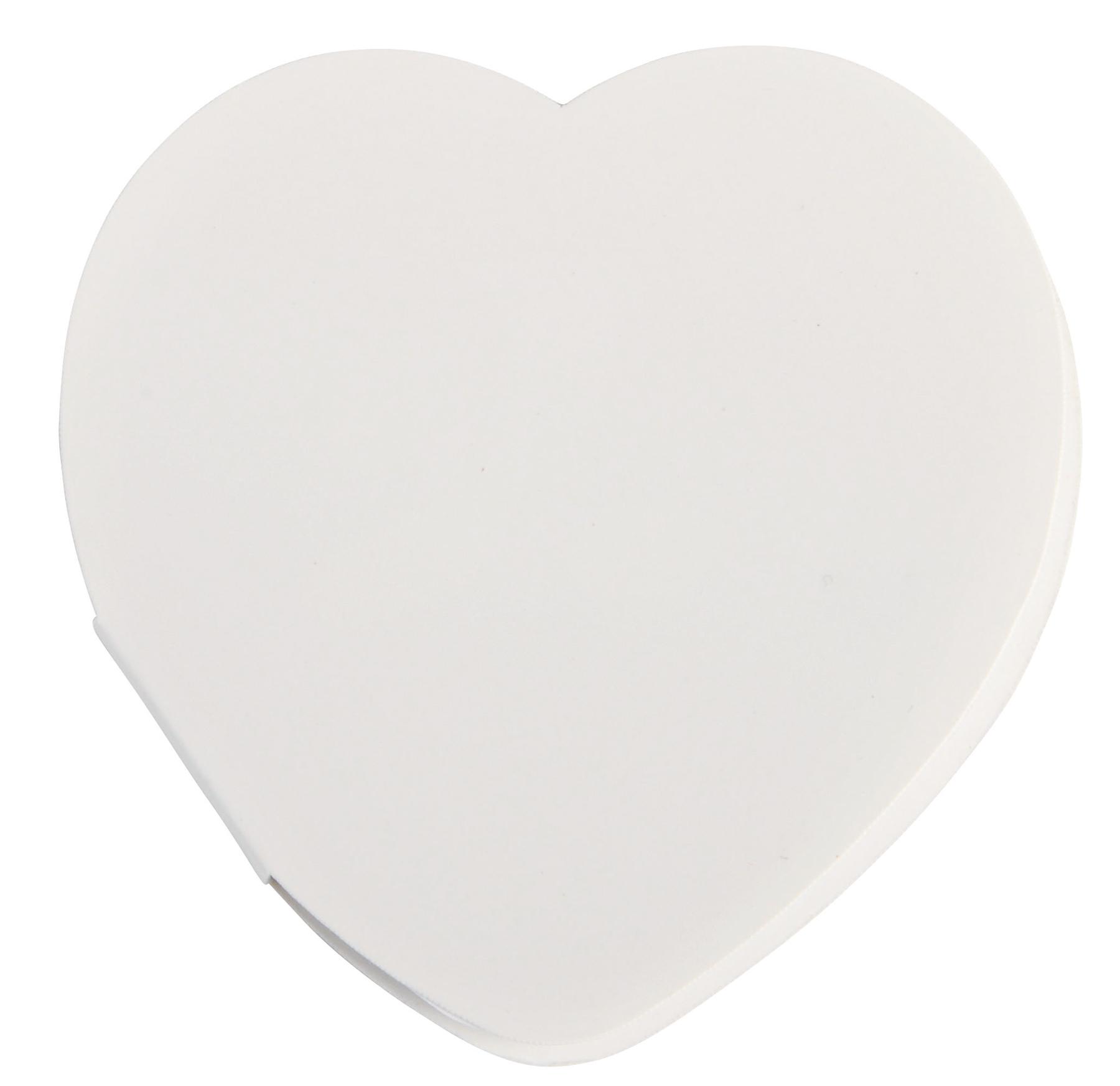 Naklejki w kształcie serca IN LOVE, biały
