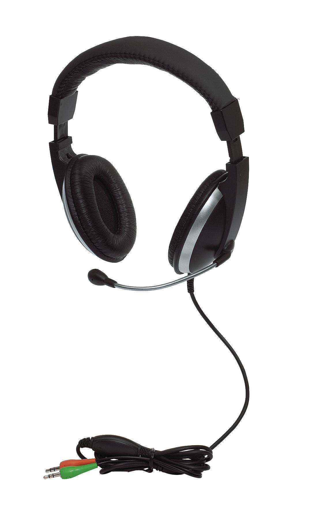 Zestaw słuchawkowy ROSKILDE, czarny, srebrny