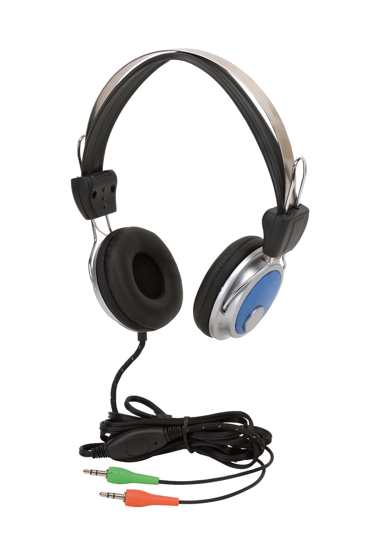Zestaw słuchawkowy VIBORG, czarny, niebieski, srebrny
