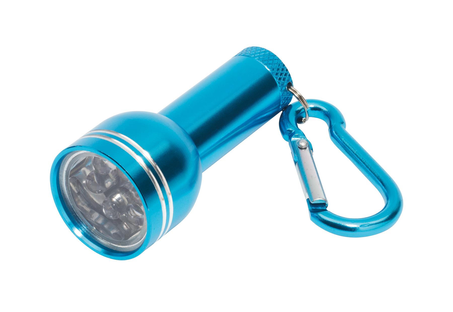Mini latarka CARA, turkusowy