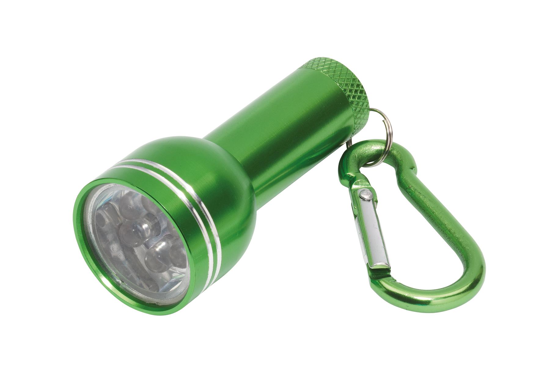 Mini latarka CARA, zielony