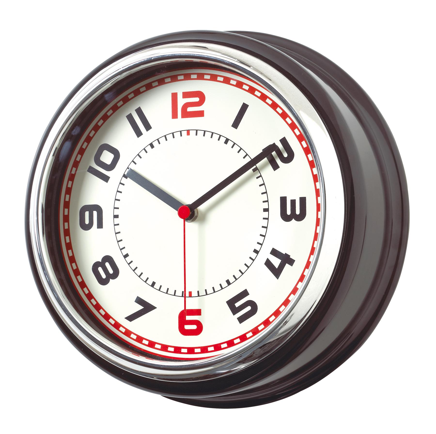 Zegar ścienny COUNTRY, czarny, srebrny
