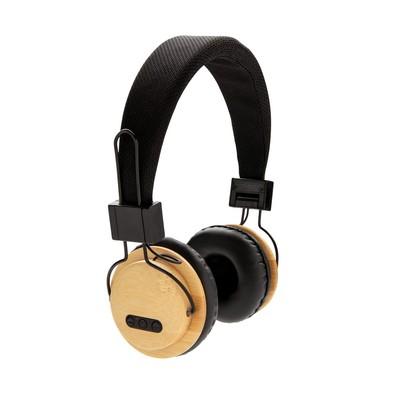 Bambusowe, bezprzewodowe słuchawki nauszne