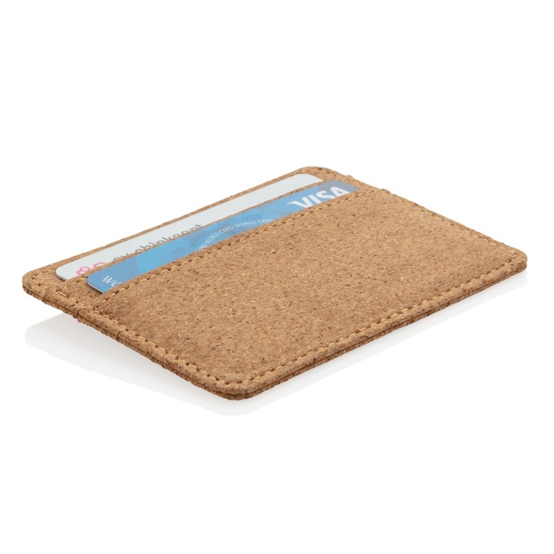 Korkowe etui na karty kredytowe, portfel, ochrona RFID