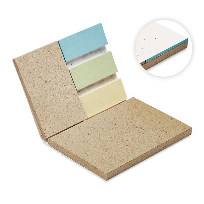 Zestaw 2 notesów samoprzylepnych z papieru z trawy GROW ME