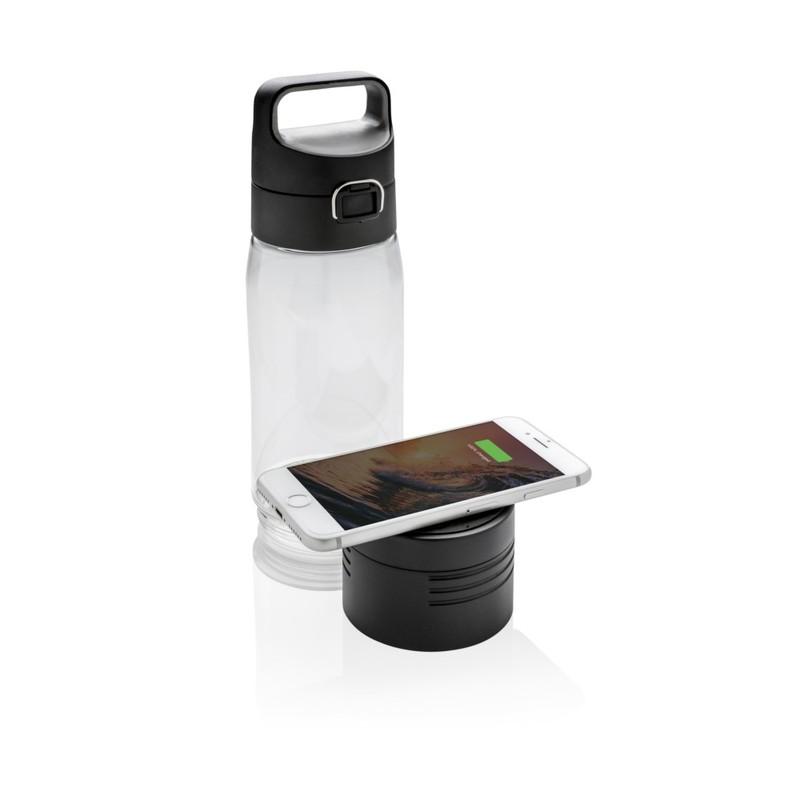 Butelka 600 ml Hydrate, bezprzewodowy power bank 5000 mAh