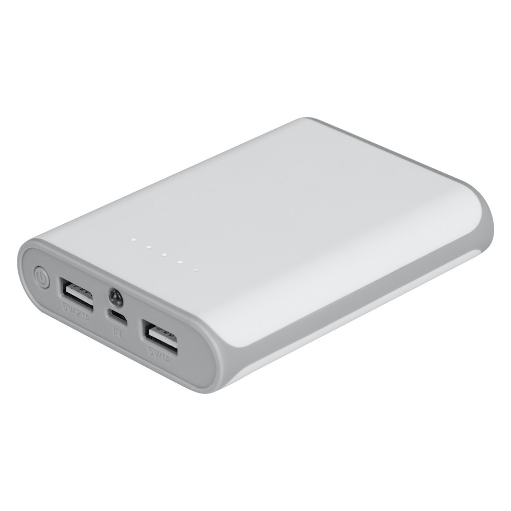 Power bank 8000 mAh biały