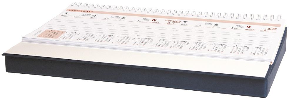 Kalendarz leżący z piórnikiem