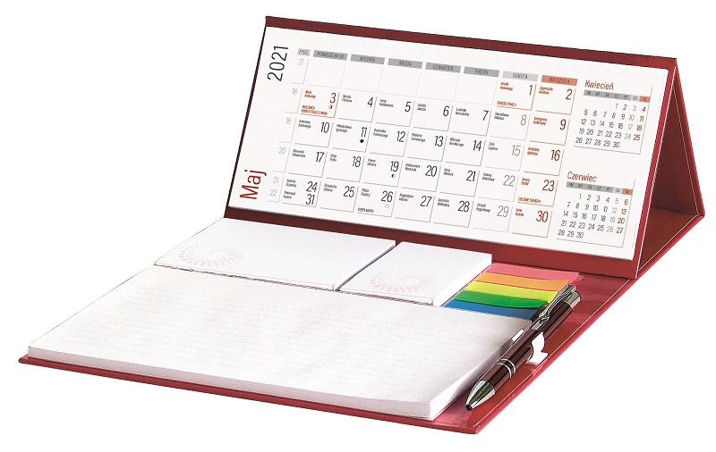 Kalendarz biurkowy z długopisem