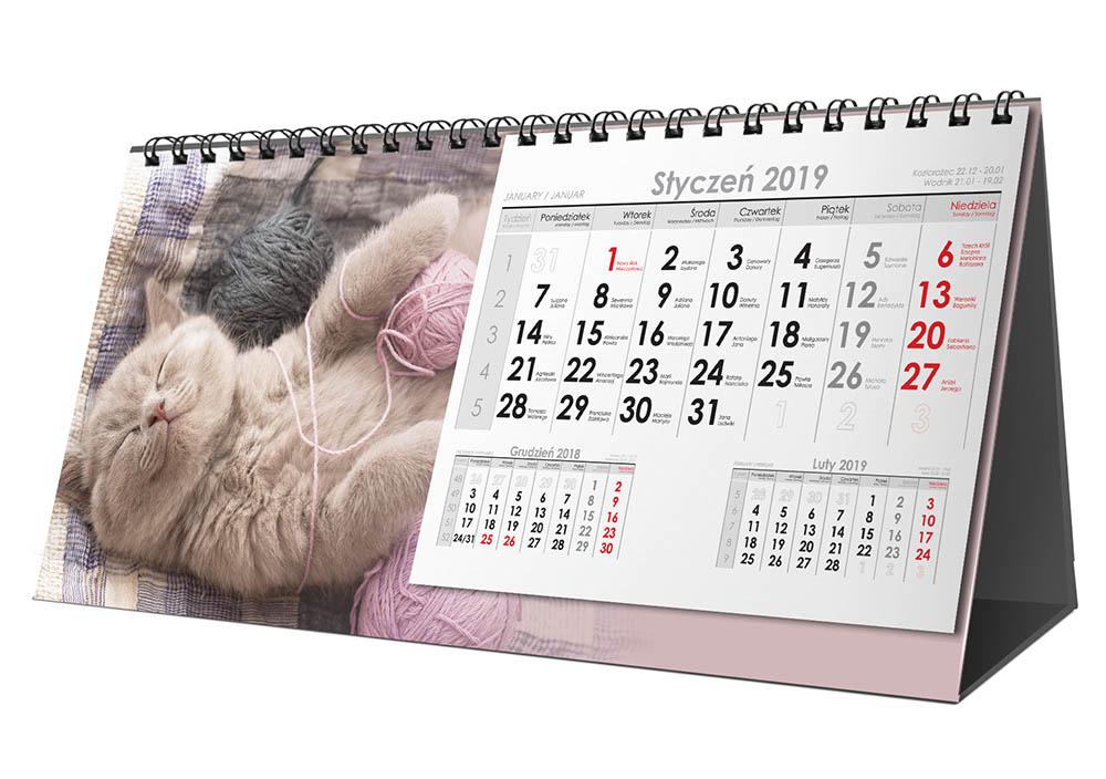 Kalendarz biurkowy spiralowy