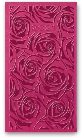 Kalendarze książkowe tygodniowe Relief-Vivella B6 Amarantowy