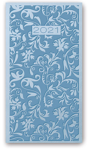 Kalendarze książkowe tygodniowe Relief-Vivella B6 Błękitny