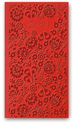 Kalendarze książkowe tygodniowe Relief-Vivella B6 Czerwony