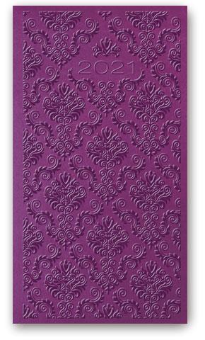 Kalendarze książkowe tygodniowe Relief-Vivella B6 Fioletowy