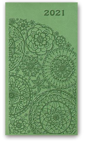 Kalendarze książkowe tygodniowe Relief-Vivella B6 Jasnozielony
