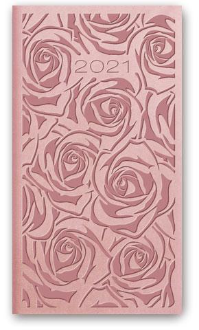 Kalendarze książkowe tygodniowe Relief-Vivella B6 Pudrowy róż