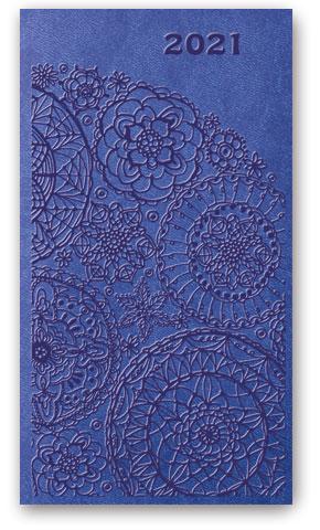 Kalendarze książkowe tygodniowe Relief-Vivella B6 Zgaszony niebieski