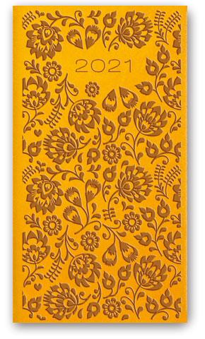 Kalendarze książkowe tygodniowe Relief-Vivella B6 Żółty