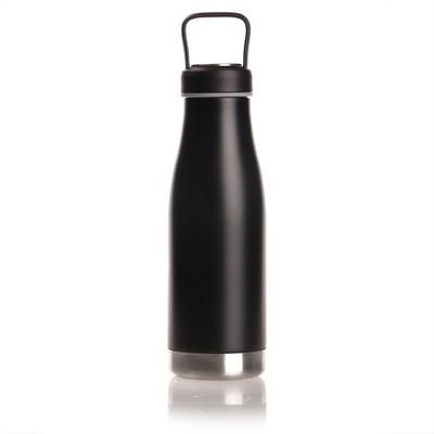 Butelka termiczna 475 ml Mauro Conti z uchwytem i metalowym ringiem na spodzie, pojemnik w zakrętce