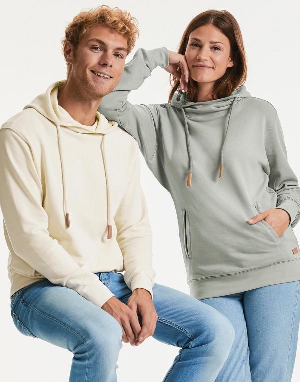 Bluza High Collar Hooded Pure Organic