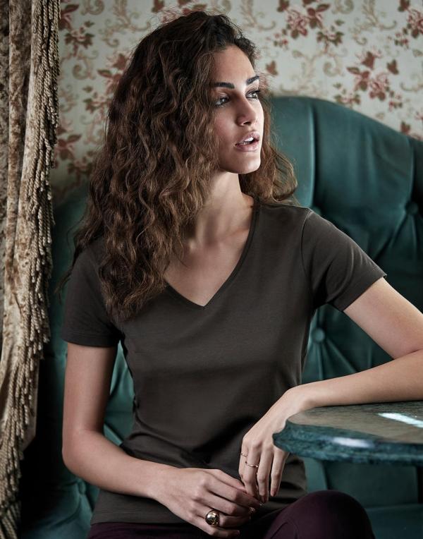 Damska koszulka Luxury V-Neck Tee