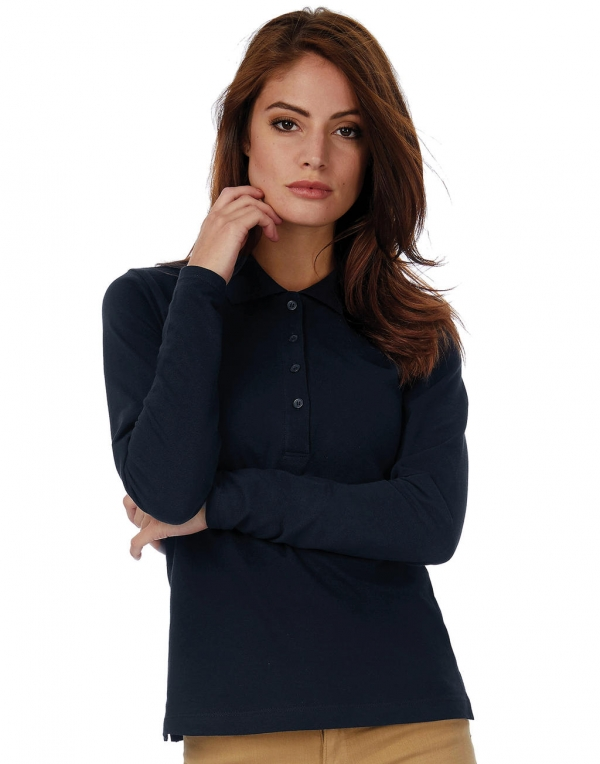 Polo damskie Safran Pure LSL/women