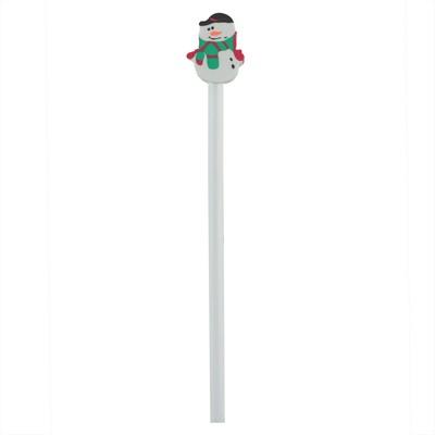 Ołówek z gumką, świąteczny wzór