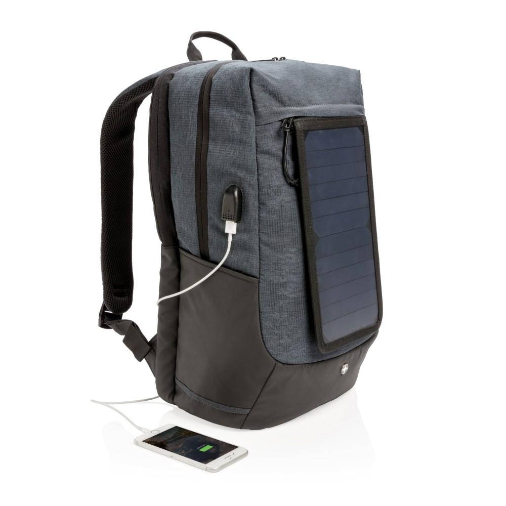 """Plecak na laptopa 15,6"""" Swiss Peak Eclipse, ładowarka słoneczna 7W"""