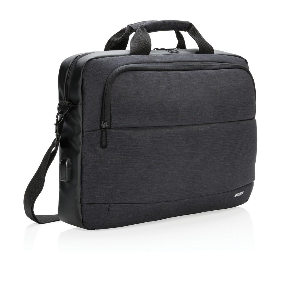 """Czarna torba na laptopa 15"""" Swiss Peak"""