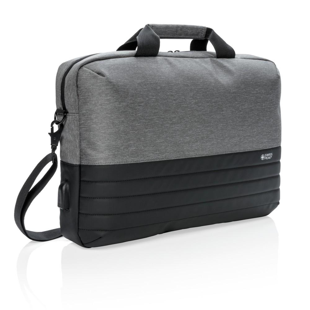 "Torba na laptopa 15.6"" Swiss Peak, ochrona RFID"
