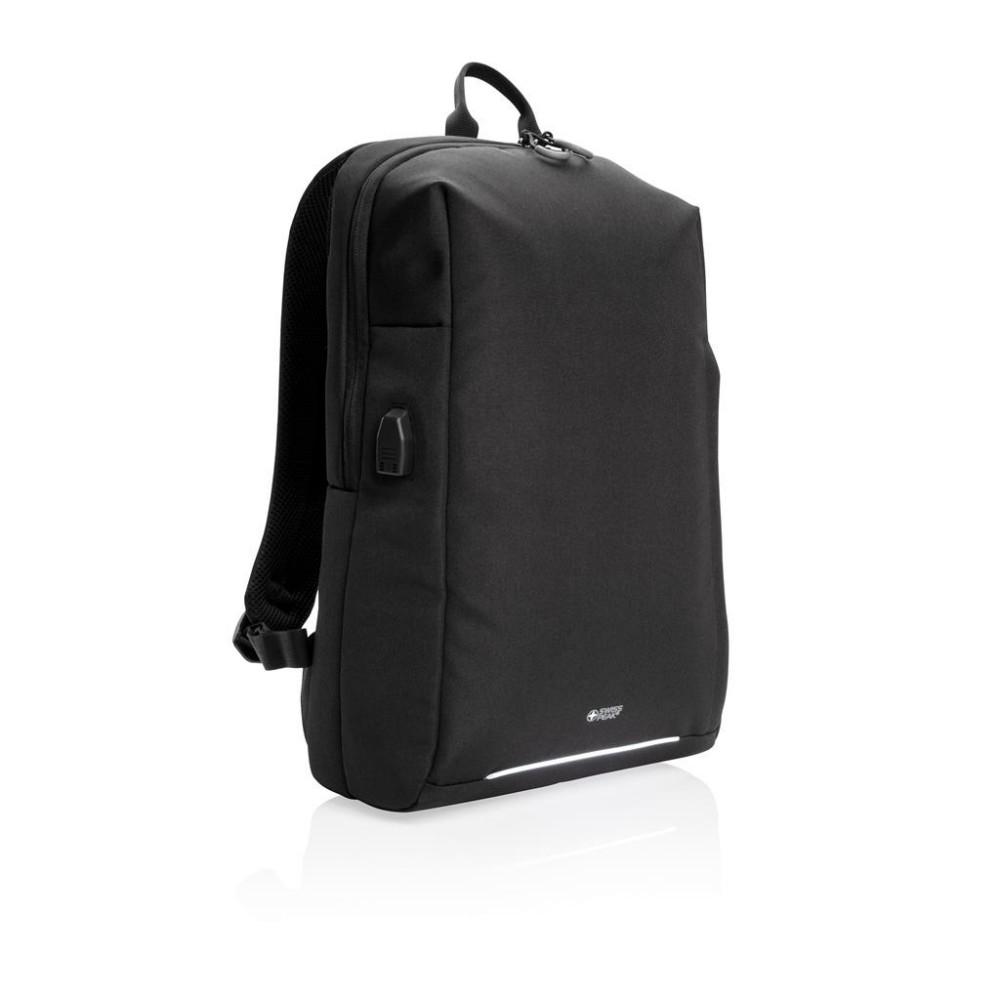 """Plecak na laptopa 15,6"""", ochrona RFID, czarny"""