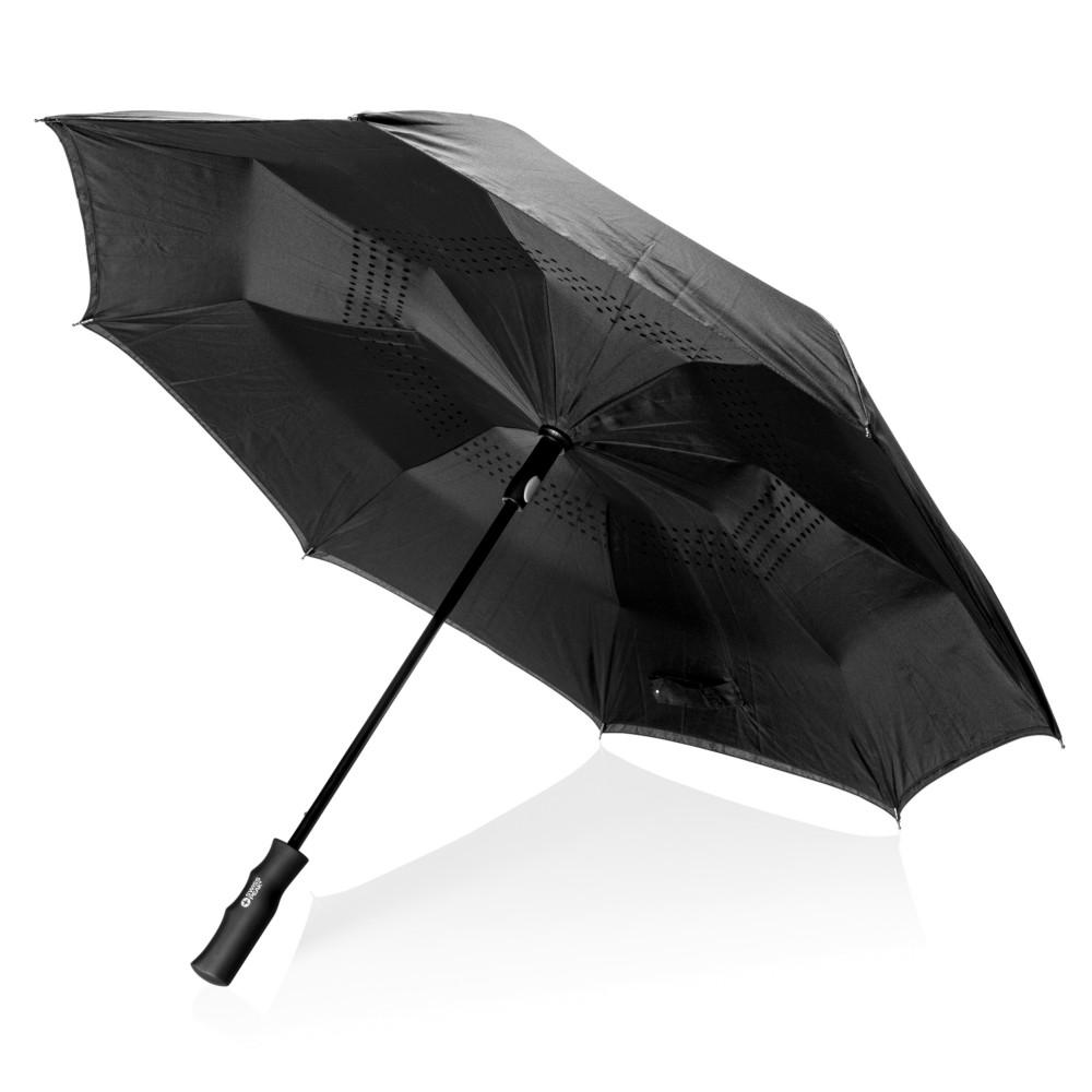 """Odwracalny parasol automatyczny 23"""" Swiss Peak, czarny"""