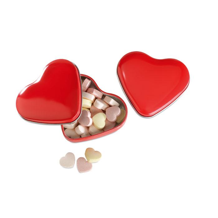 Cukierki w pudełku, serce Lovemint